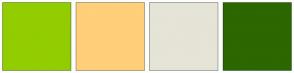 Color Scheme with #92CD00 #FFCF79 #E5E4D7 #2C6700