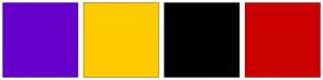 Color Scheme with #6600CC #FFCC00 #000000 #CC0000