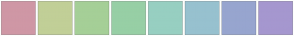 Color Scheme with #CF97A5 #C1CF97 #A5CF97 #97CFA5 #97CFC1 #97C1CF #97A5CF #A597CF