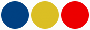 Color Scheme with #004182 #DBBF24 #ED0000