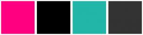 Color Scheme with #FF0080 #000000 #21B6A8 #333333