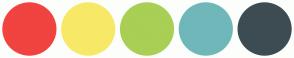 Color Scheme with #F1433F #F7E967 #A9CF54 #70B7BA #3D4C53