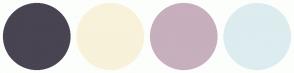Color Scheme with #484452 #F8F2DA #C7AFBD #DDECEF