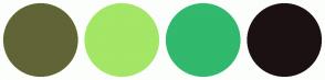 Color Scheme with #616536 #A4E666 #31B96E #1B1112