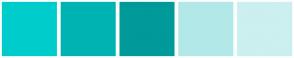 Color Scheme with #00CCCC #00B3B3 #009A9A #B2E8E8 #CCEFEF
