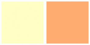 Color Scheme with #FFFFC5 #FFAC70