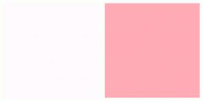 Color Scheme with #FFFAFE #FFABB5