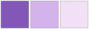 Color Scheme with #8257B8 #D4B3EB #F2E0F7