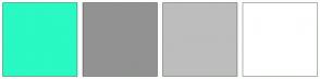 Color Scheme with #29F9C2 #929292 #BDBDBD #FFFFFF
