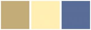 Color Scheme with #C4AC78 #FFEFB2 #586D98