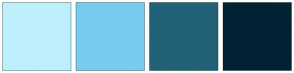 Color Scheme with #BDF0FC #77CCEE #206278 #002233