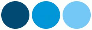 Color Scheme with #004B74 #0096D7 #74C8F6