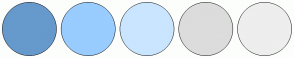 Color Scheme with #6699CC #99CCFF #CAE5FF #DCDCDC #EEEEEE