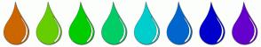 Color Scheme with #CC6600 #66CD00 #00CD00 #00CD66 #00CDCD #0066CD #0000CD #6600CD