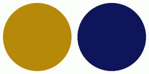 Color Scheme with #B78909 #0E155B
