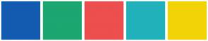 Color Scheme with #135BB1 #1CA670 #ED4E4E #20B1BB #F2D308