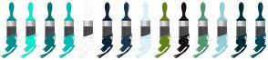 Color Scheme with #00918F #0CE9CC #007271 #00BCB6 #FFFFFF #0D2336 #1C374E #D8F2F7 #628012 #171210 #519772 #93CDD8 #002B32 #004353