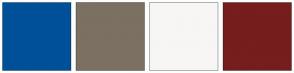Color Scheme with #005099 #7C7062 #F7F6F4 #761D1D