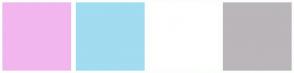Color Scheme with #F2B6EF #A1DCF0 #FFFFFF #BAB6BA