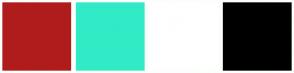 Color Scheme with #B01C1C #31EBC6 #FFFFFF #000000