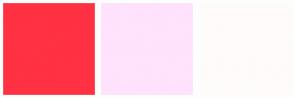 Color Scheme with #FF3143 #FFE2FC #FFFBFB
