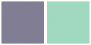 Color Scheme with #817E94 #A0D9BF