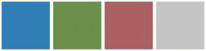 Color Scheme with #2F7FB6 #6B904B #AB6161 #C5C5C5