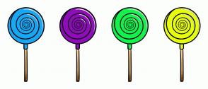 Color Scheme with #18A8F5 #8F0DBA #16F24D #E7FF0D