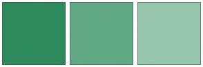 Color Scheme with #2E8A5C #62A885 #97C5AE