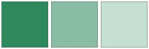 Color Scheme with #2E8A5C #8ABEA4 #C5DFD2