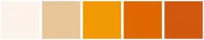 Color Scheme with #FCF3EA #E8C699 #F19903 #E06700 #D1580F