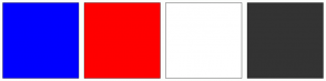 Color Scheme with #0000FF #FF0000 #FFFFFF #333333