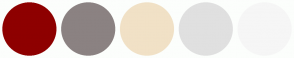 Color Scheme with #8E0000 #8B8282 #F1E1C6 #E0E0E0 #F6F6F6