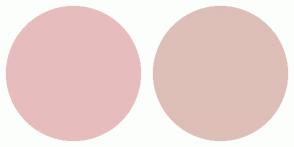 Color Scheme with #E7BCBC #DDBFB7