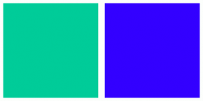 Color Scheme with #00CC99 #3300FF