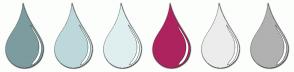Color Scheme with #7D9C9F #BDD8DA #DFEFF0 #AD235E #ECECEC #B1B1B1
