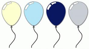 Color Scheme with #FEFFD0 #B3E5F7 #081761 #C9CED4