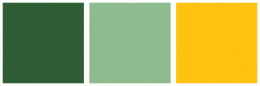Color Scheme with #305D35 #8FBC8F #FFC20F