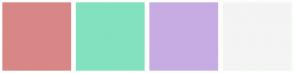 Color Scheme with #D88787 #83E1C0 #C7ACE3 #F4F4F4
