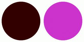 Color Scheme with #330000 #CC33CC