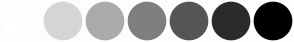 Color Scheme with #FFFFFF #D5D5D5 #ABABAB #7F7F7F #555555 #2B2B2B #000000