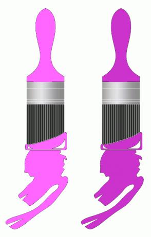 Color Scheme with #FF66FF #CC33CC