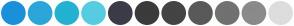 Color Scheme with #1B90DA #2CA6D9 #23B2D1 #56CCE1 #3B3B49 #3B3B3B #444444 #5A5959 #717171 #8A8A8A #DDDDDD