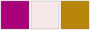 Color Scheme with #AA0078 #F7E9E9 #B8860B