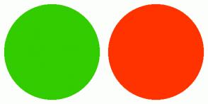 Color Scheme with #33CC00 #FF3300