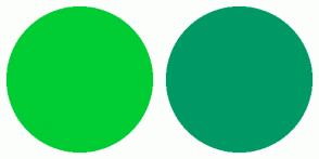 Color Scheme with #00CC33 #009966