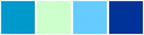 Color Scheme with #0099CC #CCFFCC #66CCFF #003399