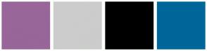 Color Scheme with #996699 #CCCCCC #000000 #006699