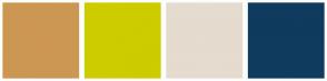 Color Scheme with #CC9752 #CCCC00 #E5DBCF #0F3B5F