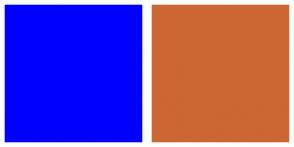 Color Scheme with #0000FF #CC6633